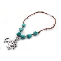 "Necklace and Earrings ""Turquoise Beads"""