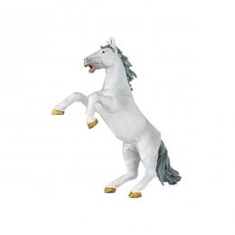 """White rearing horse """"Papo"""""""