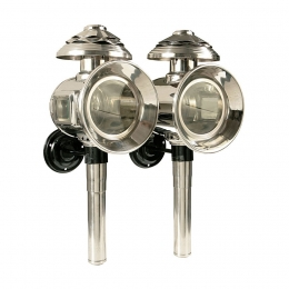 Stainless Steel Carriage Lamp set