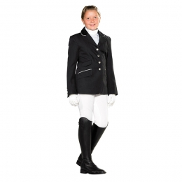 Children's riding jacket with velvet collar