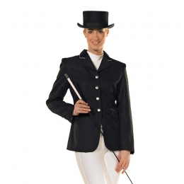 Women's riding jacket with velvet collar