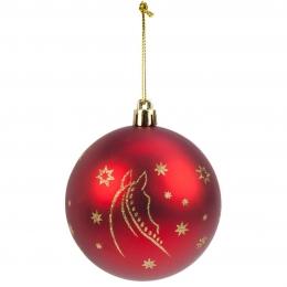 """Χριστουγεννιάτικες Μπάλες """"Horse Head"""", Σετ των 6"""