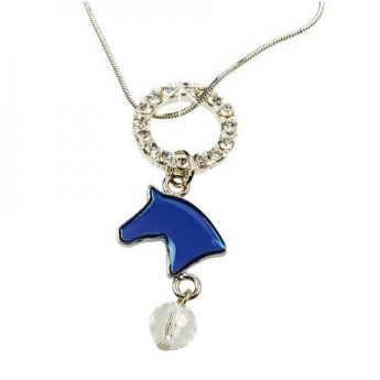 """Necklace """"Horse Head"""", blue"""