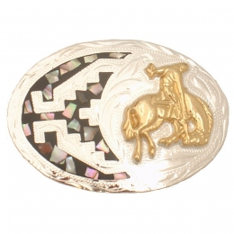 "Belt Buckle ""Bucking Bronco"""