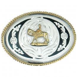 """Belt Buckle """"Horse & Rider"""""""