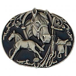 "Belt Buckle ""Horse's Collage"""
