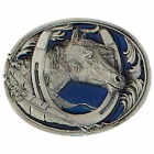"Belt Buckle ""Horsehead / Horseshoe"""