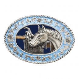 "Belt Buckle ""Horse & Saddle"""
