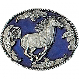 "Belt Buckle ""Running Horse"""