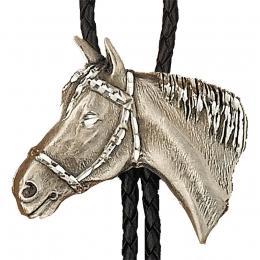 "Bolo Tie ""Silver Horsehead"""