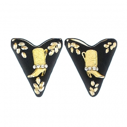 "Screw-On Collar Tips ""Golden Boots"""
