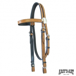 "Western Headstall Argy's Art ""FOREST"""