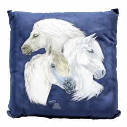 "Pillow ""White Horses"""