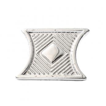 "Metal Decorative ""Carved Rectangle"""