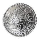 """Metal Decorative """"Round Carved Large"""""""