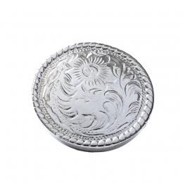 """Metal Decorative """"Round Carved Medium"""""""