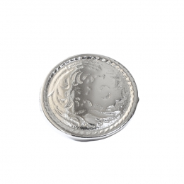 """Metal Decorative """"Round Carved Small"""""""