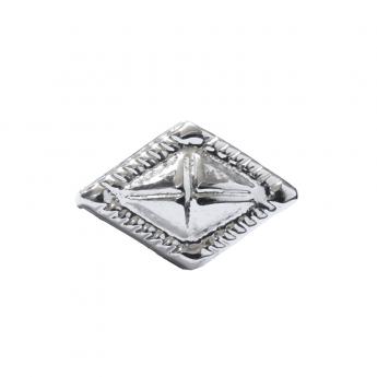 "Metal Decorative ""Rhombus Carved"""
