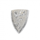 """Metal Decorative """"Shield with Flower"""""""