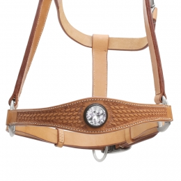 "Leather Halter ""Diamond"""