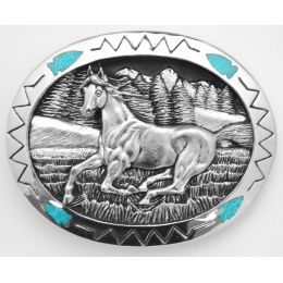 Galloping Horse Belt Buckle