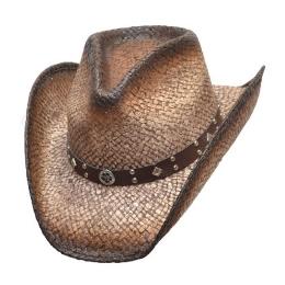 Σκούρο Καφέ Ψάθινο Καπέλο