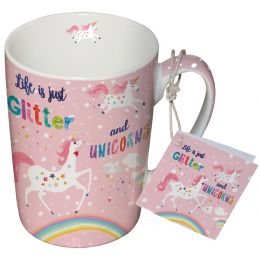 "Porcelain mug ""Glitter & Unicorns"""