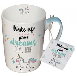 "Porcelain Mug ""Wake Up..."""