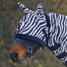 "Fly Mask ""Zebra"""