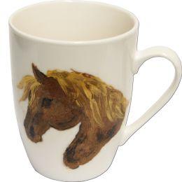 """Hand-painted Mug """"Palomino"""""""