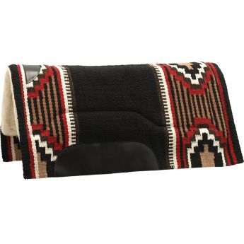 Western Woolen Saddle Pad with fur ARGY'S ART