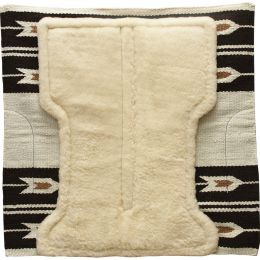 Woolen saddle pad for western saddles with fur ARGY'S ART