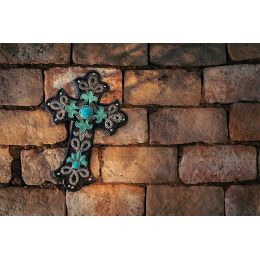 Wall Decor Cross-Layered Scrolls