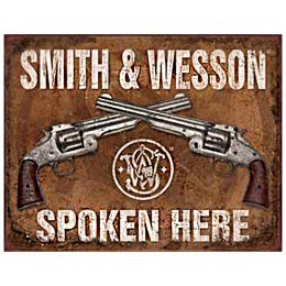 "Tin Sign ""Smith & Wesson"""