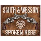 """Tin Sign """"Smith & Wesson"""""""