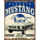 """Tin Sign """"Classic Ford Mustang"""""""