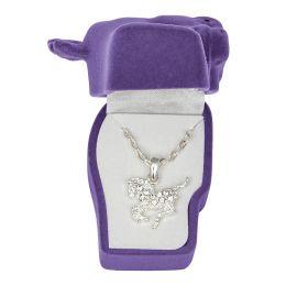 Pony Necklace with Clear Rhinestone