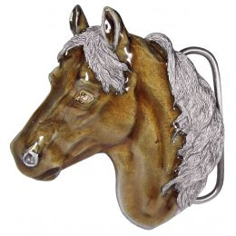 "Belt Buckle ""Horsehead"""