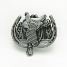 "Belt Buckle ""Saddle & Horseshoes"""
