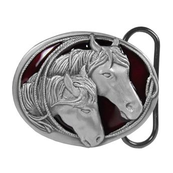 "Belt Buckle ""Horseheads"""