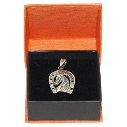 """Silver Pendant """"Horseshoe & Horsehead"""""""