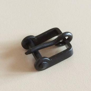Αγκράφα Μαύρη 18mm